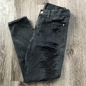 A&F Distressed Boyfriend Jeans